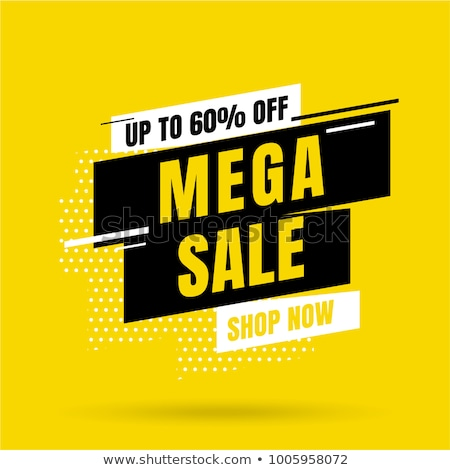Mega Discount Sale Posters Vector Illustration Stock photo © robuart