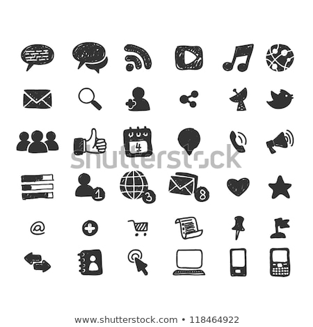 Office Paper and Hearts Isolated Icons Set Vector Stock photo © robuart