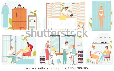 Spa Procedure in Beauty Salon Cartoon Banner Set Stock photo © robuart