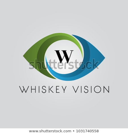 Vector eye app icon design, vector illustration isolated on whit stock photo © kyryloff