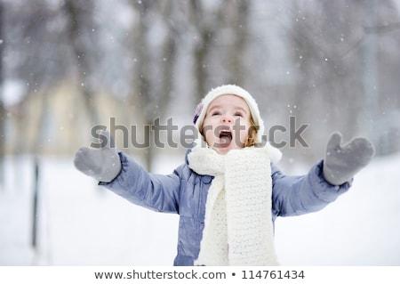Szép családi portré téli idény kívül család férfi Stock fotó © Lopolo