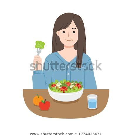 Healthy Food Woman and Man Vector Illustration Stock photo © robuart