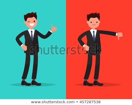 good and bad boss director with office workers stock photo © robuart