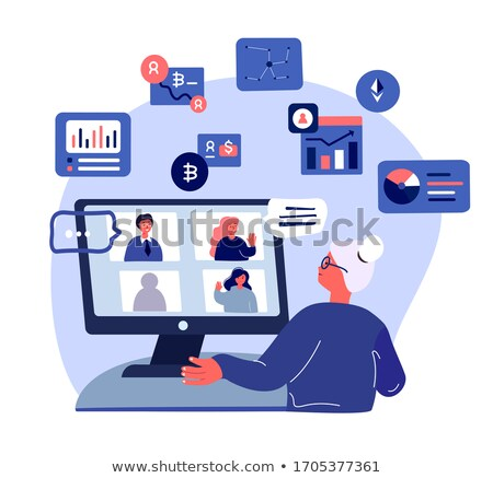 Blockchain Seminar Person Vector Illustration Stock photo © robuart