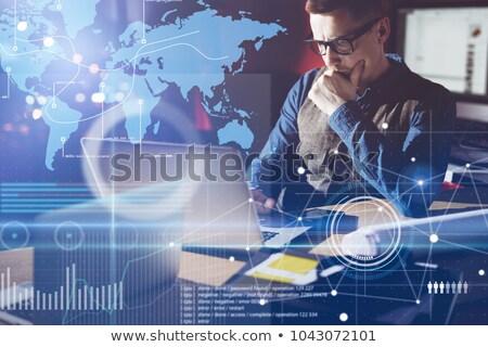 Analítica estrategia financieros mercado trabajo en equipo éxito Foto stock © cifotart