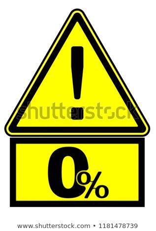 3D · yol · işareti · önde · 3d · illustration · sarı - stok fotoğraf © ribah