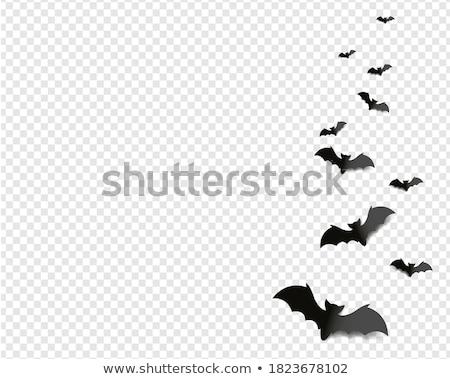 Negro halloween naranja decoraciones muchos papel Foto stock © dolgachov