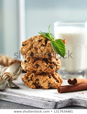 oatmeal cookies on wooden board at home Stock photo © dolgachov