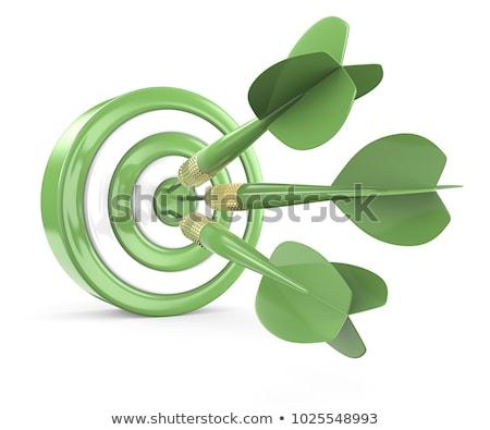 Három zöld darts 3D renderelt kép illusztráció Stock fotó © djmilic