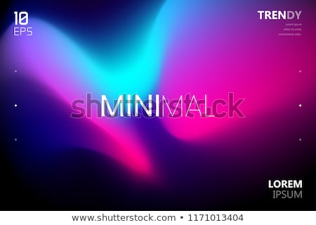 Abstract Background Liquid Fluid Vector. Vibrant Cover. Music Paint. Colorful Style. 3D Realistic Il Stock photo © pikepicture