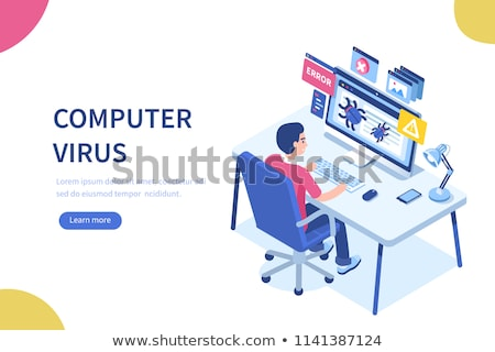 Malware computer virus concept vector illustration. Stock photo © RAStudio