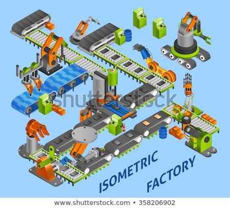 Robotics construction concept vector illustration. Stock photo © RAStudio