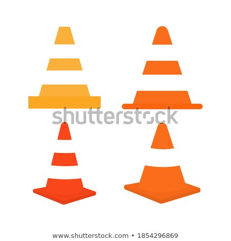 Road Plastic Cone and Stand with Stripes on Board Stock photo © robuart