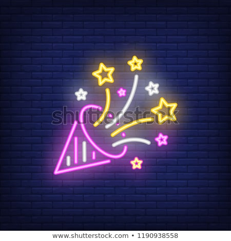 Birthday Party Neon Icons Stock photo © Anna_leni