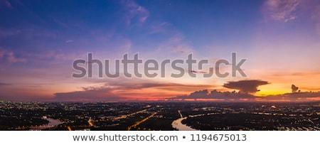 Transport ciel avion icône vignette carré Photo stock © Ecelop