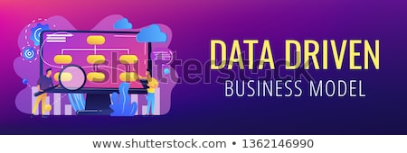 data driven marketing concept banner header stock photo © rastudio