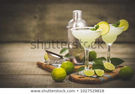 Margarita cocktail with lime and ice foto stock © furmanphoto