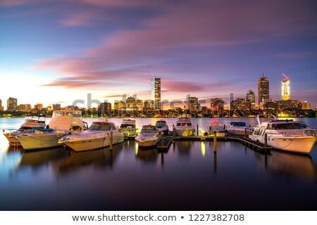 boston harbor sunrise stock photo © jsnover