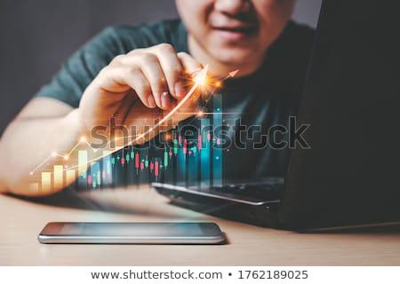 ビジネスマン 在庫 取引 ビジネス コンピュータ 男 ストックフォト © Elnur