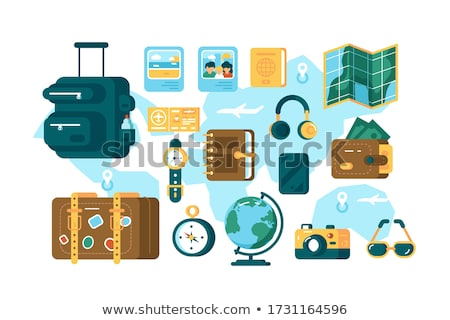 Set of different tourist supplies Stock photo © jossdiim