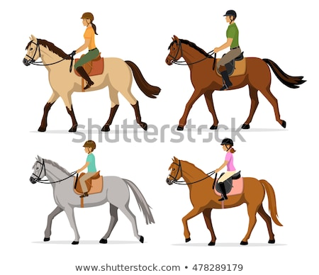 Horse riding set Stock photo © netkov1