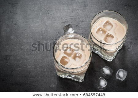 очки ирландский кремом ликер деревянный стол продовольствие Сток-фото © Alex9500