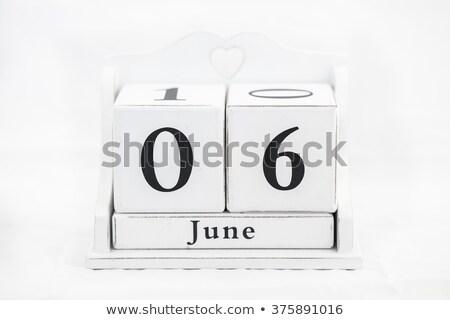 Cubes 6th June Stock photo © Oakozhan