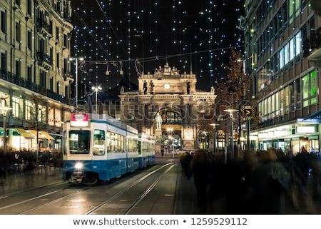 Utca Zürich történelmi házak város központ Stock fotó © borisb17