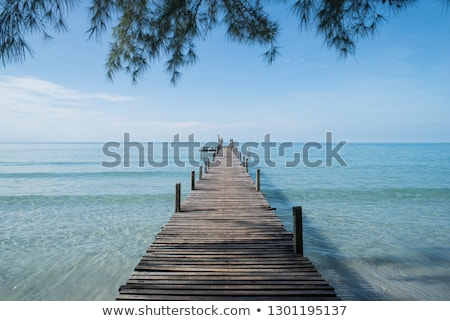 wooden and sand natural background stock photo © grafvision