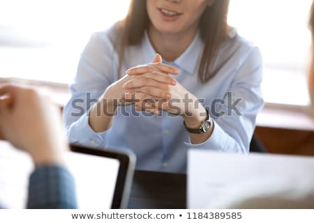 close up of unrecognizable woman concentrated on thoughts stock photo © pressmaster
