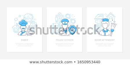 Police Policeman and Woman Vector Illustration Stock photo © robuart