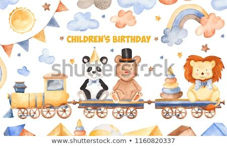 Baby douche kid spelen sterren speelgoed Stockfoto © robuart
