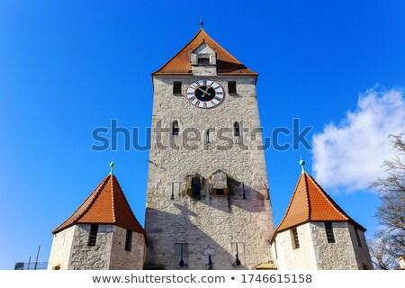 старые ворот Германия towers города укрепление Сток-фото © borisb17