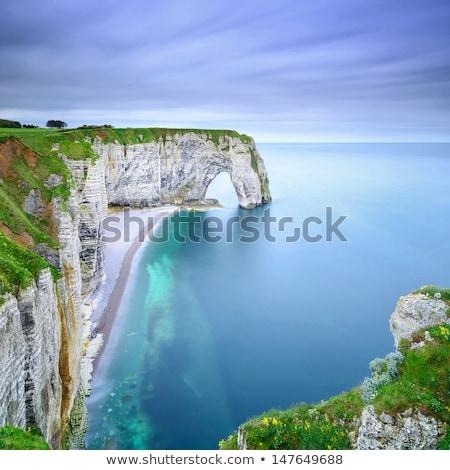 フランス 自然 海岸 ノルマンディー 水 ストックフォト © borisb17