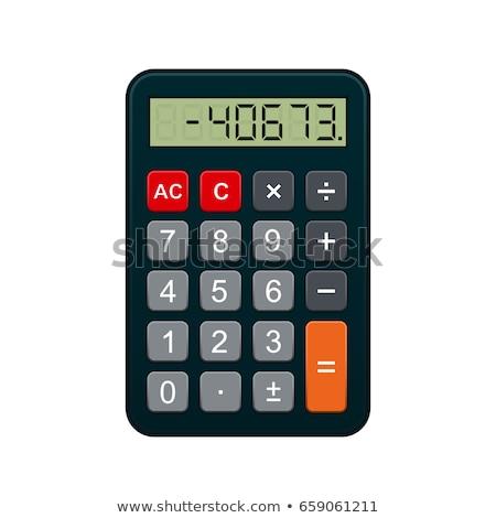 Számológép gombok berendezés számítás gépi számok Stock fotó © robuart