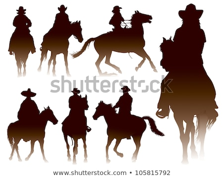 Equine Sports Hobby of Woman with Horse Vector Stock photo © robuart
