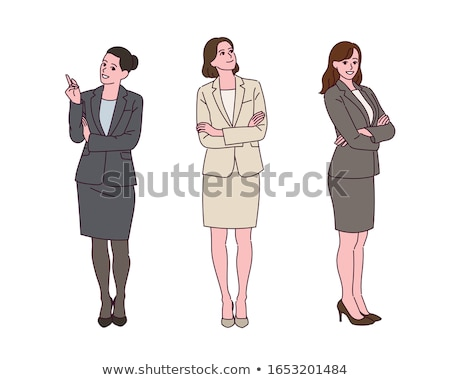 simple suit business woman_Cross with arms Stock photo © toyotoyo