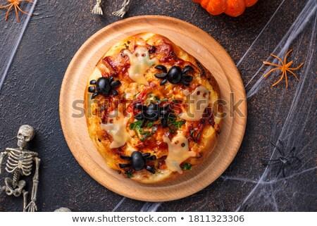 Halloween scary antipasti decorato ragni formaggio Foto d'archivio © furmanphoto