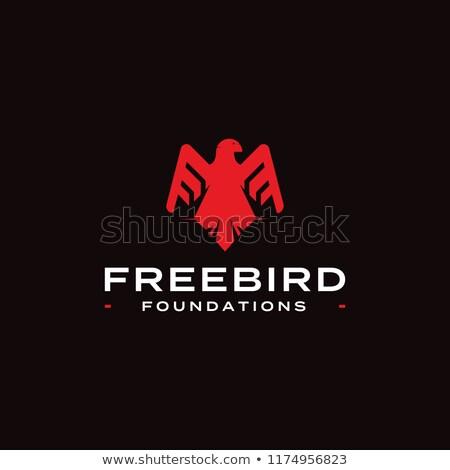 madár · szárny · galamb · logo · sablon · szív - stock fotó © masay256