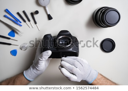 Man dslr camera lichaam Stockfoto © AndreyPopov