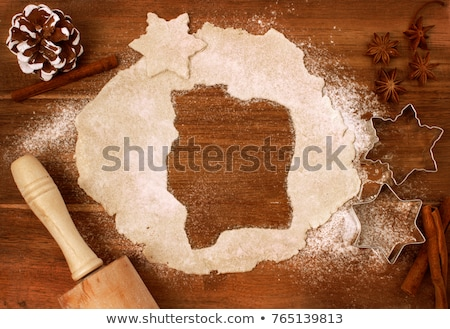 christmas sweets composition gingerbread cookies with xmas decorations stock photo © dash