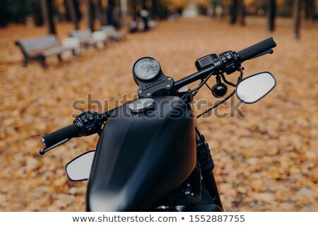 Tiro negro motocicleta velocímetro otono Foto stock © vkstudio