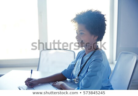 Healthcare concept on black Stock photo © neirfy