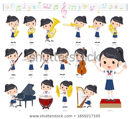 school girl Sailor suit summer_classic music Stock photo © toyotoyo