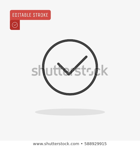 Szavazás ikon vektor skicc illusztráció felirat Stock fotó © pikepicture