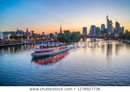 The Main River in Frankfurt at night Stock photo © manfredxy