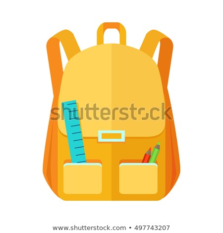 Haversack Object Colorful Close Backpack Vector Stock photo © robuart