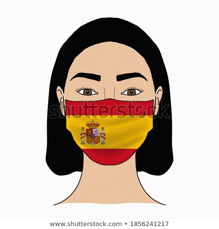 surgical mask patterned with the flag of Spain Stock photo © nito