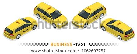 Online taxi isometrische communie vector Stockfoto © pikepicture