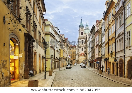 sokak · Prag · küçücük · geçit · Çek · Cumhuriyeti · ev - stok fotoğraf © simplefoto